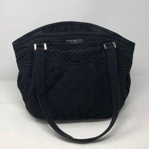 Vera Bradley All Black Medium Handbag